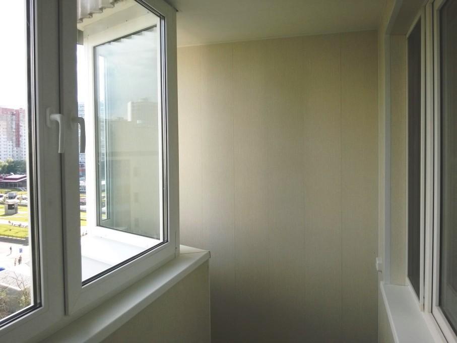 Фото работ по отделке балкона п 44.